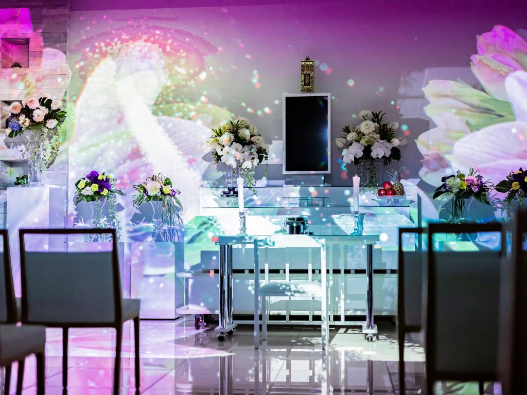 室蘭星光館の祭壇写真